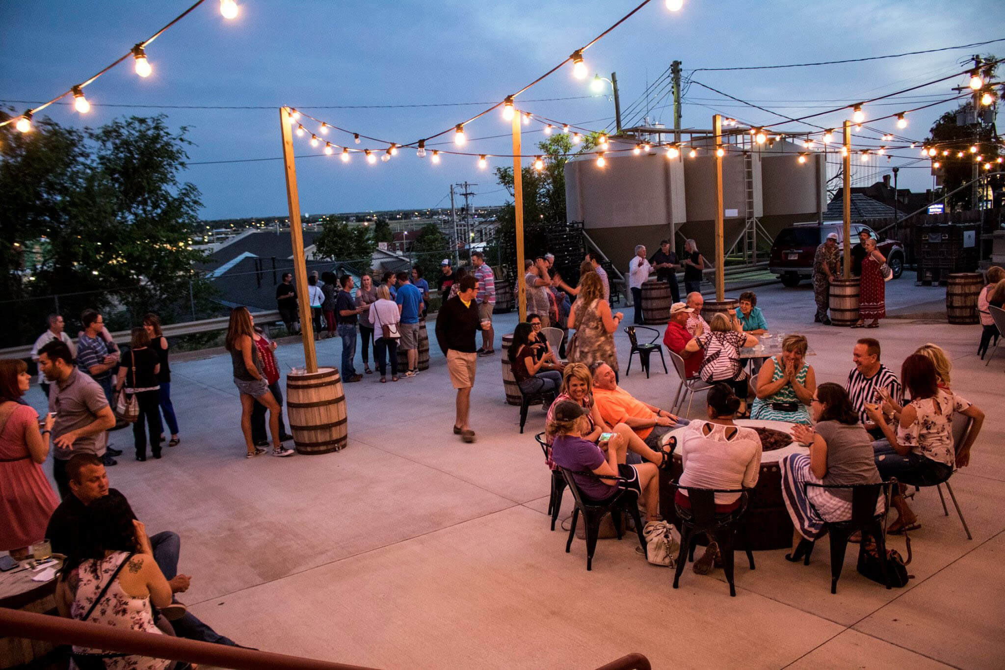 Boot Hill Distillery Patio