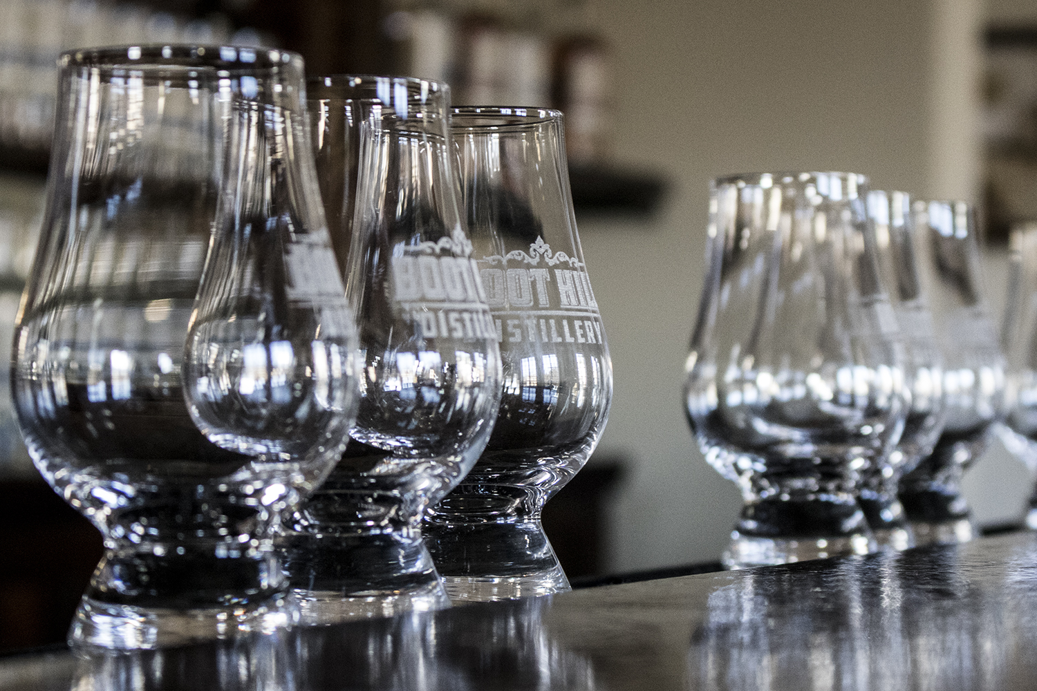 Boot Hill Distillery Tasting Glasses