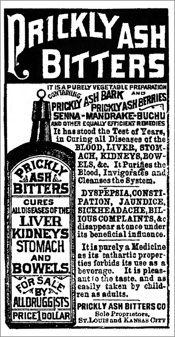 Prickly Ash Bitters Decatur Daily Record 1887